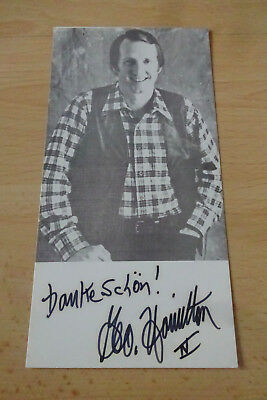 George Hamilton Country Autogramm signed 10x18 cm Postkarte