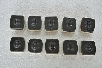 10 Pc Vintage Ceramic & Bakelite Ellora Brand Electric Switches,England