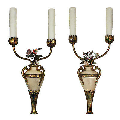 Stunning Pair of Antique Cast Bronze Adam Style Sconces, R.P.&Co., NSP1069