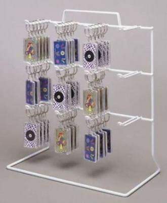 New 3 Tier 12 OSHA Loop Peg Hook Key Chain Counter Top White Display Rack
