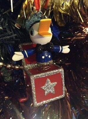 Disney store sketchbook 2017 Donald Duck, Jack In a Box christmas tree ornament