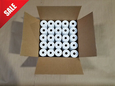 "3 1/8"" x 230' White Thermal PoS Receipt Paper 50 Rolls"