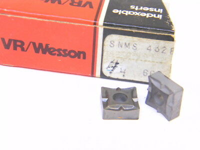 New Surplus 4Pcs. Vr/wesson  Snms 432E  Grade: 660  Carbide Inserts