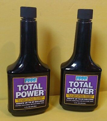FPPF Total Power Fuel Injector Cleaner, 12 oz, Treats 60 Gallons ~ 2 Bottles