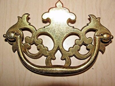 Vtg Nos Keeler Brass Co Kbc Batwing Back & Bail Drawer Pull Handle N4381 N8099
