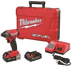 Milwaukee M18 Fuel Impact Driver Kit, With Compact Batteries, 1/4 In.