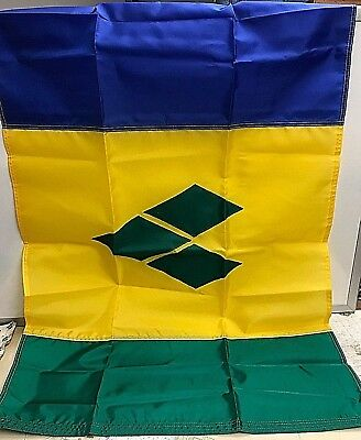 "Dura-Lite 2'x3"" St. Vincent & Grenadines Nylon Courtesy Flag W/Brass Grommets"