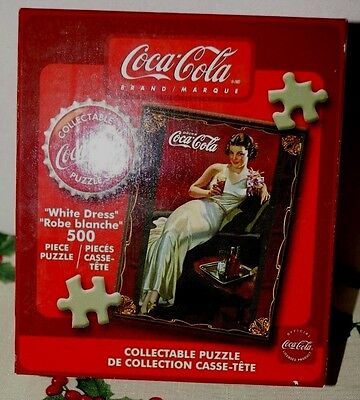 "Coca Cola 500 Collectible Puzzle "" White Dress"""