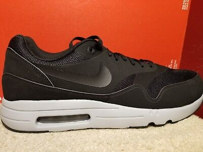 official photos c7d34 5bd93 NIKE AIR MAX 1 ULTRA 2.0 ESSENTIAL Size 13 Black Wolf Grey 875679-002 Mens