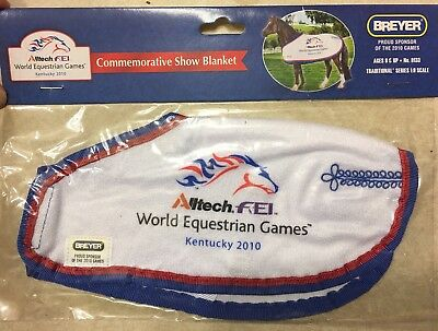 SHIPS FREE Breyer World Equestrian Games Commemorative Blanket~NIP~ Trad Size