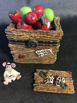 Candice's Apple Crate w/ Doc McNibble-Boyds Bears Treasure Box #39210 (retired)