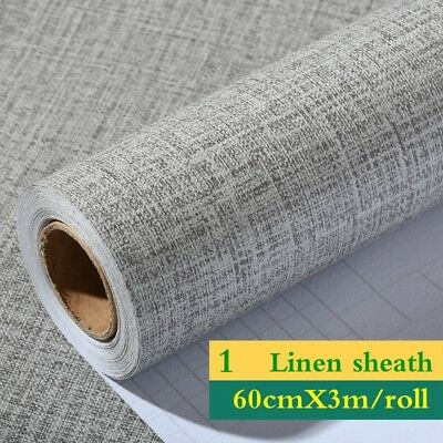 Embossed Textured Line Wallpaper Rolls Striped Vinyl Self Adhesive Modern Decor