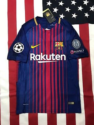 New Barcelona Home Player Version Messi Champion League Jersey 2017/2018