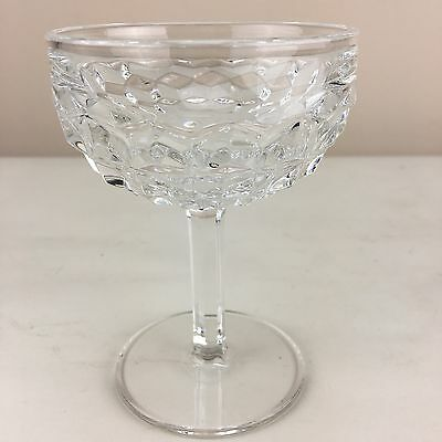 Champagne Tall Sherbet in American Clear Fostoria Stem Round Footed 4 oz Qty 1
