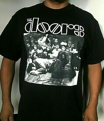 NEW!! THE DOORS JIM PASSED OUT ON STAGE ONSTAGE MEN's T-SHIRTS SIZES