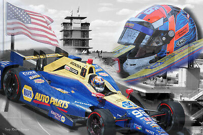 Alexander Rossi 100th Indy 500 Champion Poster