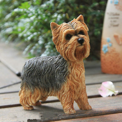 Resin MINI Yorkshire Terrier dog Hand Painted simulation model Statue A1