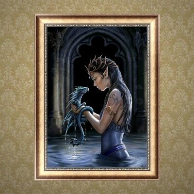 Dragon Girl DIY 5D Diamond Painting Embroidery Cross Stitch Home Decor Craft