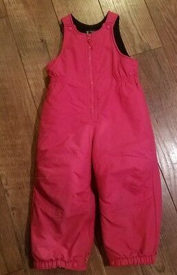 99ed088f5db8 LANDS END TODDLER Girls Pink Grow-A-Longs Insulated Ski Snow Pants ...