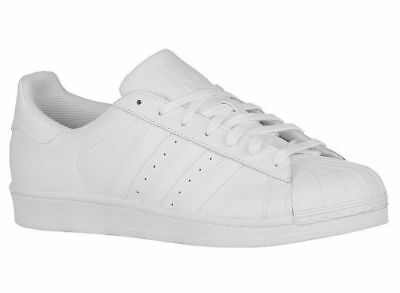 New Mens Adidas Originals Superstar Casual Shoes Trainers White / White / White
