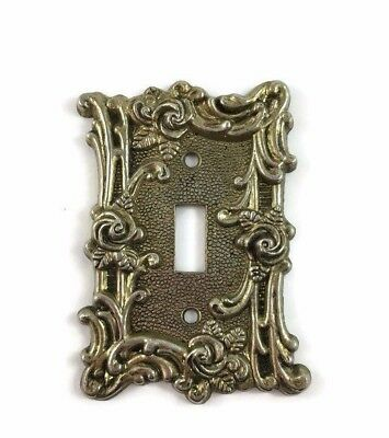 Cast Metal Single Light Switch Plate Cover American Tack & Hardware Vintage