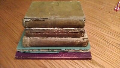 Lot of 5-Antique Vintage Book's Late 1800s/Early 1900s Rare Books