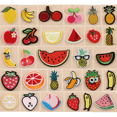 1x Fruit embroidery Iron On/Sew On Patch Clothes Badge Bag Brooch Applique Craft