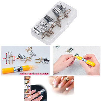 Reusable Nail Forms Tips Art Guide Form Acrylic Tip Gel Extension Sticker Nail