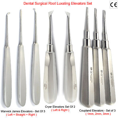 MEDENTRA® 8pcs Dental Tooth Extracting Extraction Root Luxating Elevators Set CE