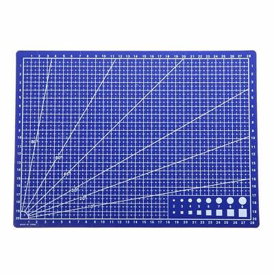 Blue A4 Grid Lines Cutting Mat Craft Scale Plate Card Fabric Leather Paper Board