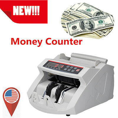 Top! Money Bill Cash Counter Bank Machine Currency Counting Uv & Mg Counterfei
