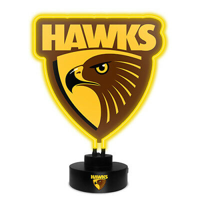 Hawthorn Hawks AFL Neon Light Up Sign Official Footy Gift Bar Man Cave