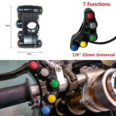 "12V Aluminum Motorcycle Switches 7/8""  Handlebar Mount Lights Horn ON OFF Switch"