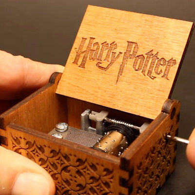 Xmas Gifts Harry Potter GOT Music Box Engraved Wooden Music Box Interesting Toys