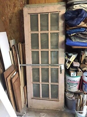 Antique Solid Wood French Door 1920's
