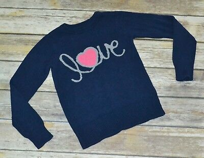 GapKids Sweater - Navy LOVE - size M / 8