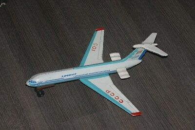 vintage ussr tin toy plane IL-62 from the first issue