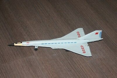 vintage tin toy plane Concorde from ussr- Ty 144