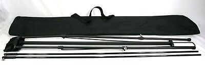 """Banner Stand X-Stand Black - Adjustable to approx. 32"""" X 78"""" w/ Bag Folds to 48"""""""