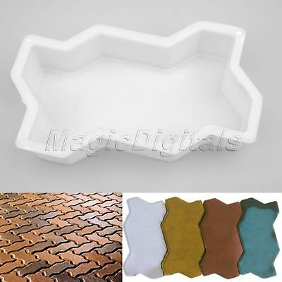 DIY Path Maker Mold Concrete Brick Mould Stone Road Auxiliary Tool For Garden
