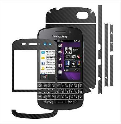 TEXTURED CARBON SKIN,FULL Body Protector Case,Vinyl Wrap BlackBerry