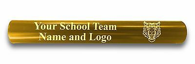 Custom GOLD Aluminum Track Field Relay Baton Personalized Gift Your Team Name