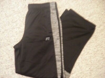 Boys Russell Size XL (14-16) Black Workout Pants Athletic w/Pockets