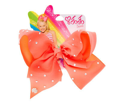 JoJo Siwa JoJo Siwa Girls Rhinestone Coral Hair Bow Clip Signature Collection No