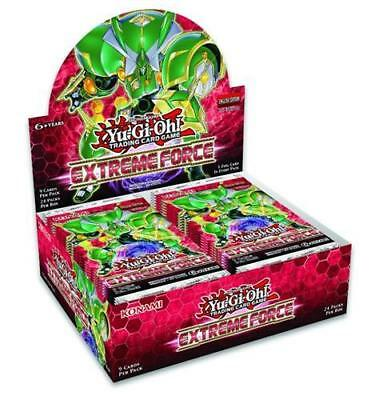 Yugioh Extreme Force 1St Edition Factory Sealed Booster Box, 24 Packs
