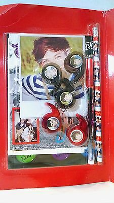One Direction Stationary Set 1D Louis Tomlinson tape pencil pen photo harry