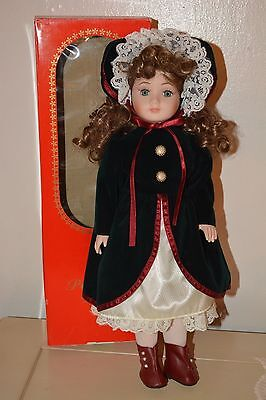 """*****NEW IN BOX World Bazaars 16.5"""" Porcelain Doll BEAUTIFUL*****"""