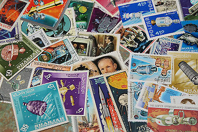 Bulk Lot Space Themed Stamps X 50  Good Mix Free Postage In Oz