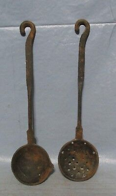 Antique Looking Primitive Water Dipper & Strainer Old-Time Farm Rusty Unique