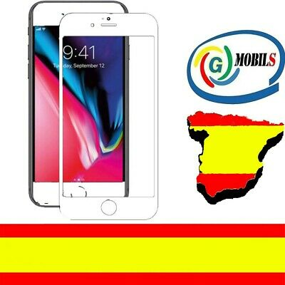 Protector Pantalla Cristal Templado 2D COMPLETO BLANCO APPLE IPHONE 6 PLUS 0.26m